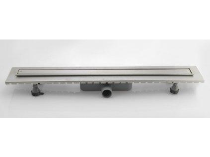 ESSEFLOW nerezový sprchový kanálek s roštem, 1080x136x80 mm