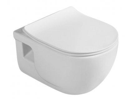 BRILLA závěsná WC mísa s bidet. sprškou, Rimless, 36,5x53 cm, bílá