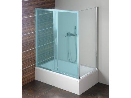 DEEP boční stěna 750x1650mm, čiré sklo