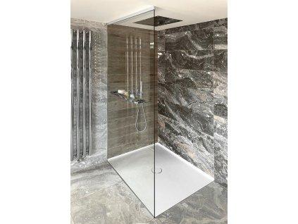 ARCHITEX LINE sada pro uchycení skla, podlaha-stěna-strop, max. š. 1600 mm, leštěný hliník