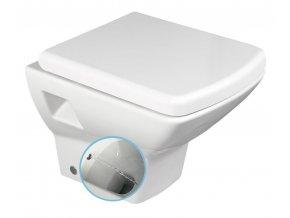 SOLUZIONE WC závěsné 35x50,5cm s bidetovou sprškou, bílá