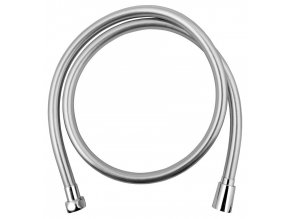 SOFTFLEX hladká sprchová plastová hadice, 100cm, metalická stříbrná/chrom
