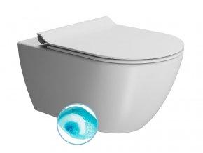 PURA WC závěsné, splachování SWIRLFLUSH, 55x36 cm, bílá dual-mat
