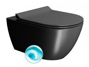 PURA WC závěsné, splachování SWIRLFLUSH, 55x36 cm, černá dual-mat
