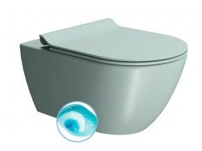 PURA WC závěsné, splachování SWIRLFLUSH, 55x36 cm, ghiaccio dual-mat