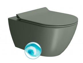 PURA WC závěsné, splachování SWIRLFLUSH, 55x36 cm, agave dual-mat