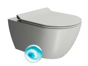 PURA WC závěsné, splachování SWIRLFLUSH, 55x36 cm, cenere dual-mat