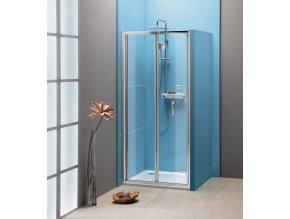 EASY LINE sprchové dveře skládací 900mm, čiré sklo