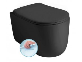 NOLITA WC závěsné NORIM 35x55 cm, černá mat
