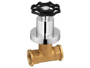 INDUSTRY podomítkový ventil, studená, chrom/černá