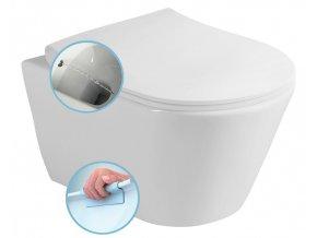 AVVA WC mísa závěsná rimless, s bidetovou sprškou, 35,5x53 cm