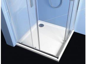 EASY LINE čtvercová sprchová zástěna 900x900mm, sklo BRICK