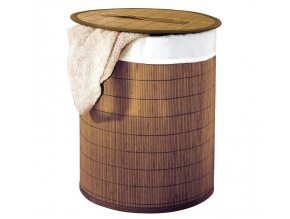 BEACH koš na prádlo, bambus, hnědá
