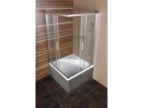 CARMEN hluboká sprchová vanička s konstrukcí, čtverec 90x90x30cm, bílá