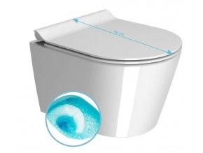 KUBE WC závěsné, splachování SWIRLFLUSH, 46x35 cm, ExtraGlaze