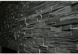 Přírodní obkladový kámen - ČERNÁ BŘIDLICE lámaná
