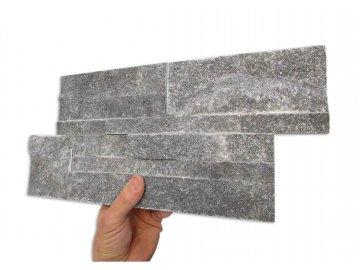 kvarcit dark grey s kostkou kamen