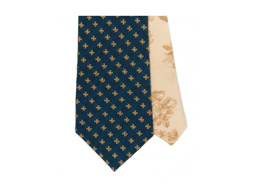 Tmavě modrá twin kravata se vzorem