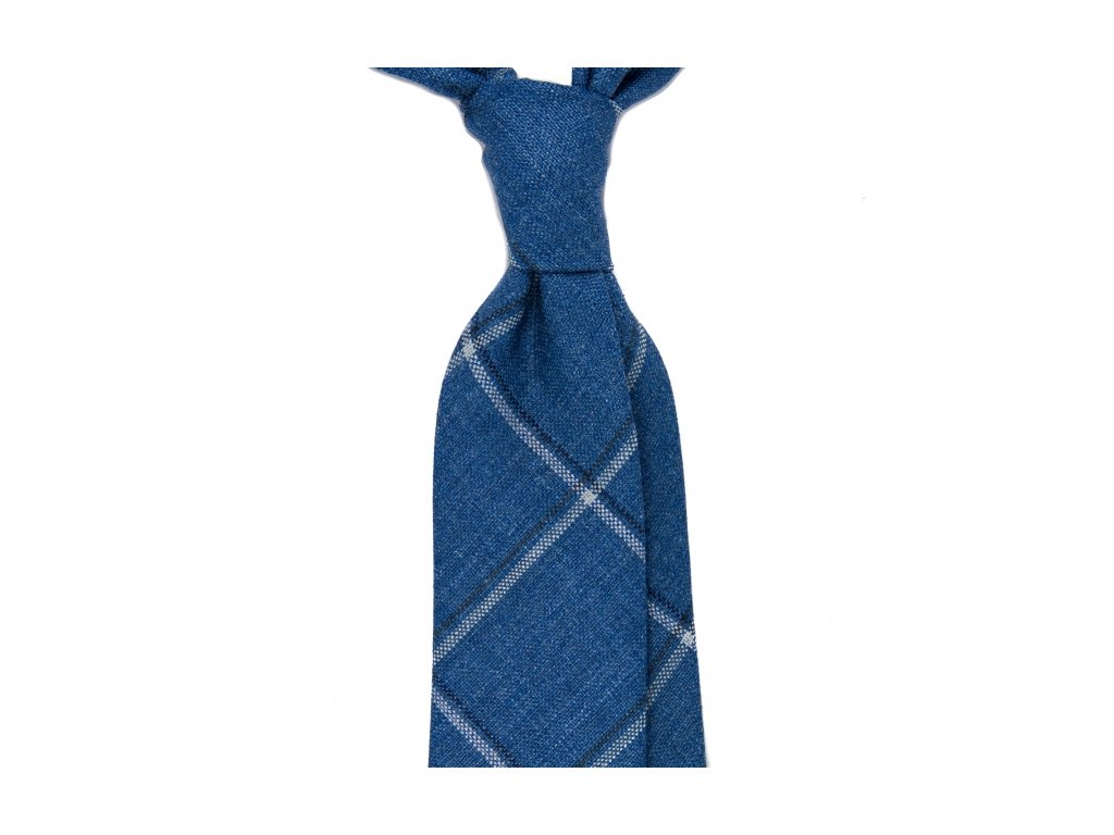 Modrá kravata windowpane