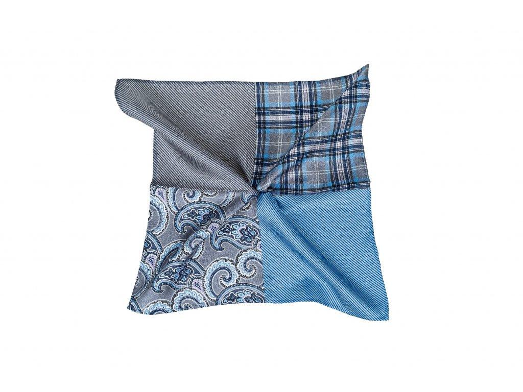 Modro-šedý kapesníček variabilní