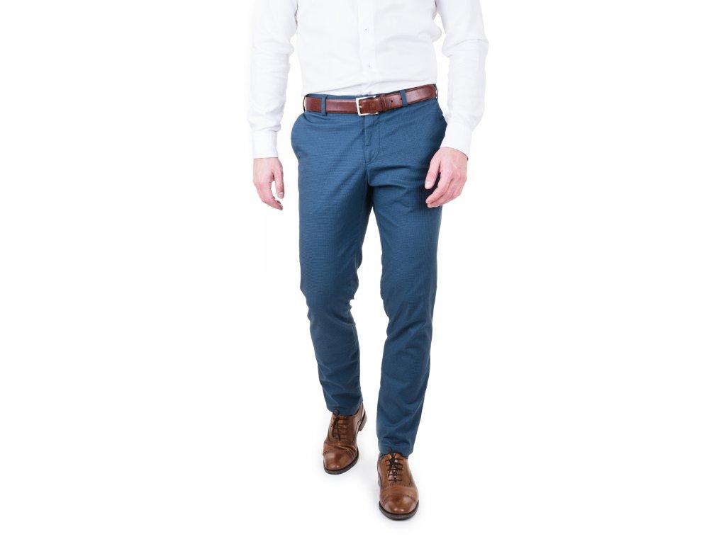Chinos modré vzor kostička 3