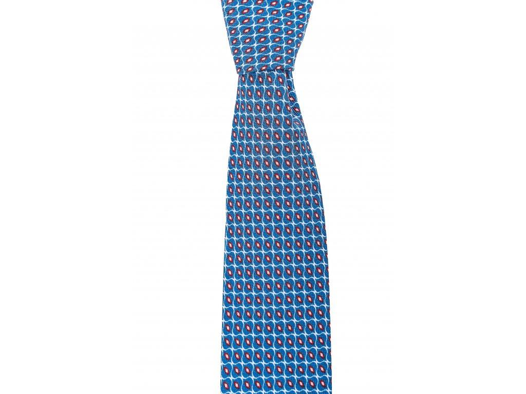 Světle modrá twin kravata s drobným vzorem