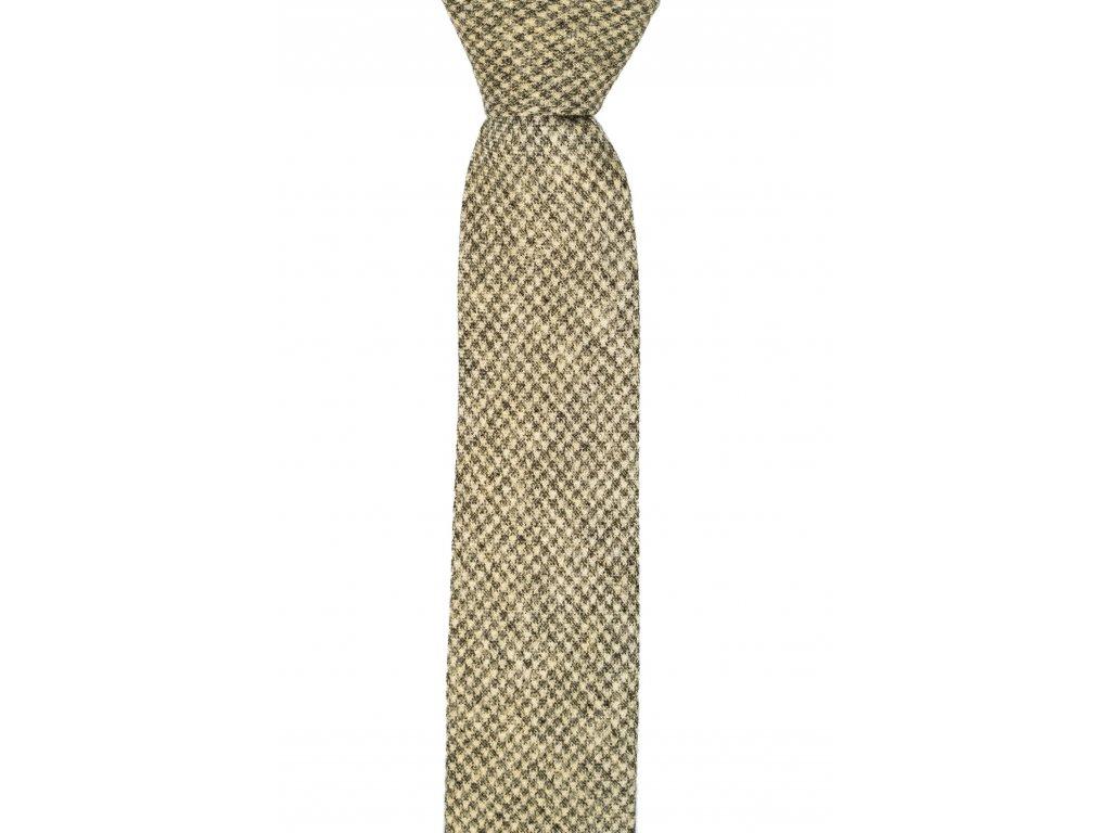 Světle zelená kravata se vzorem