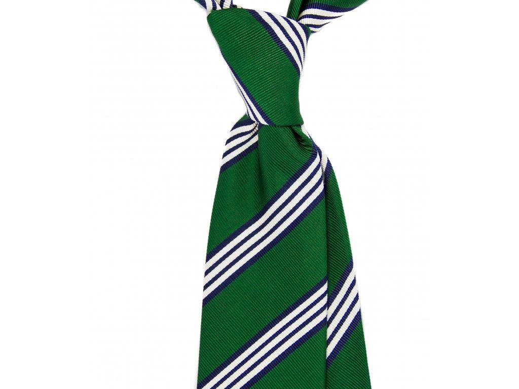 Zelená kravata s proužky