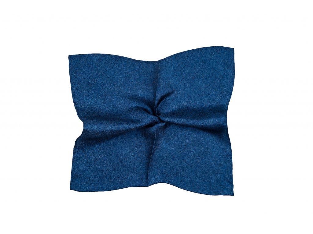 Tmavě modrý kapesníček s džínovým vzorem