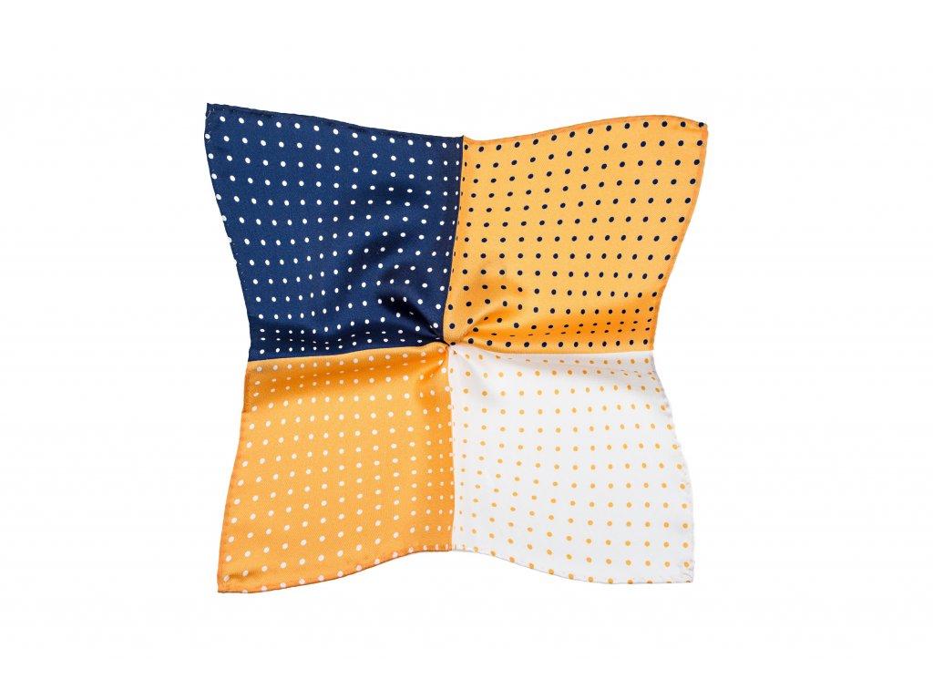 Žluto-modrý kapesníček variabilní