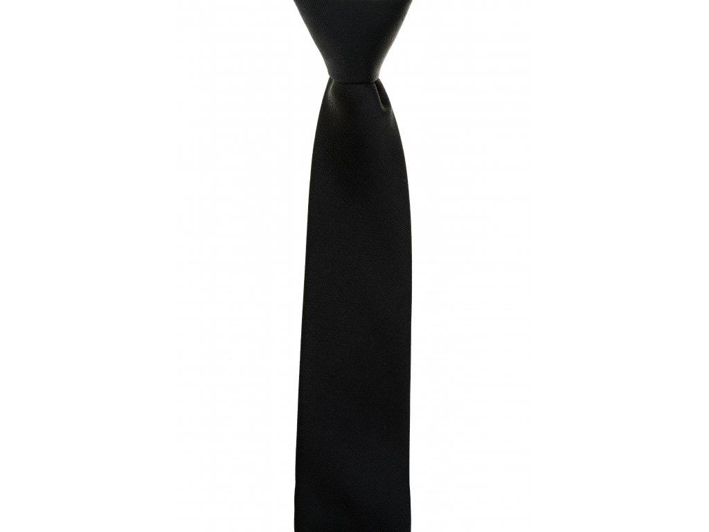 Černá kravata se strukturou