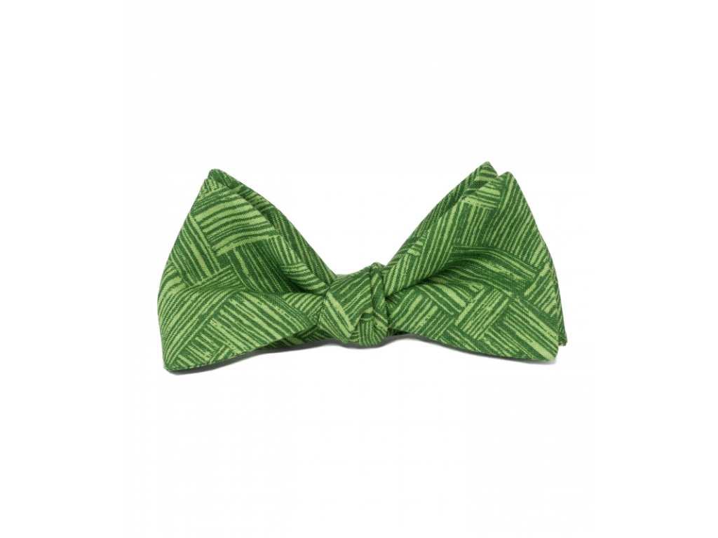 Zelený vázací motýlek s texturou