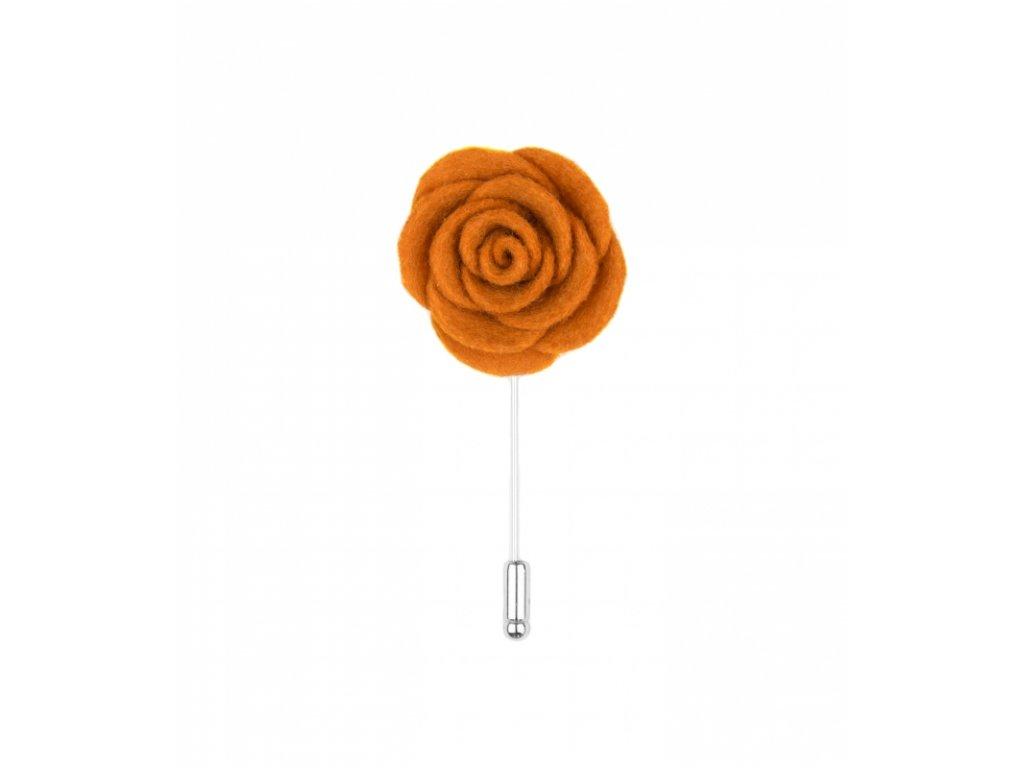 12012 Oranžová květina do klopy