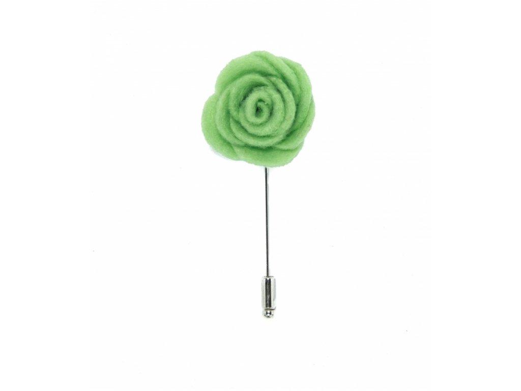 12015 Zelená květina do klopy