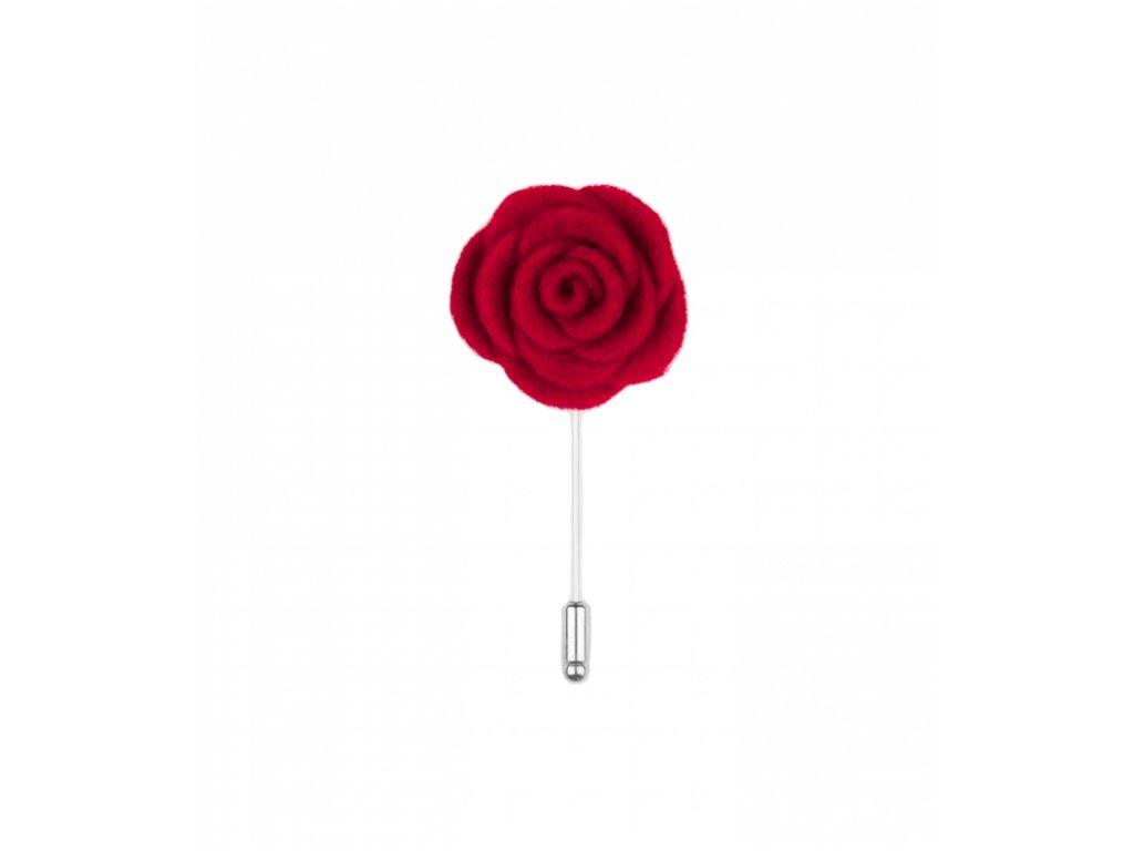 12016 Červená květina do klopy