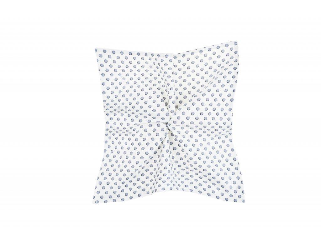 Bílý kapesníček s šedými puntíky