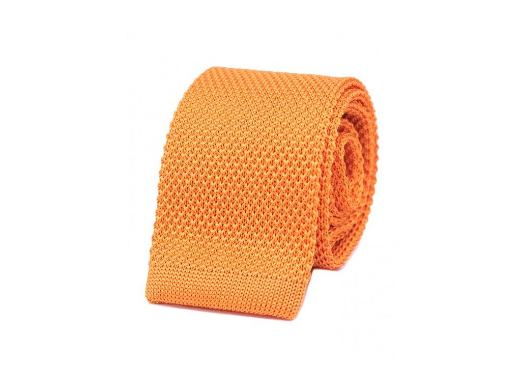 Žlutá pletená kravata