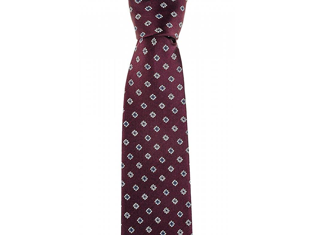 Vínová kravata s květy