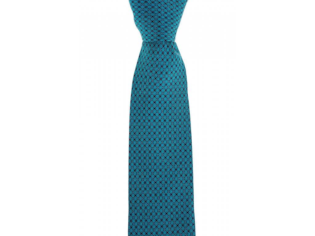 Zelená twin kravata s jemným vzorem