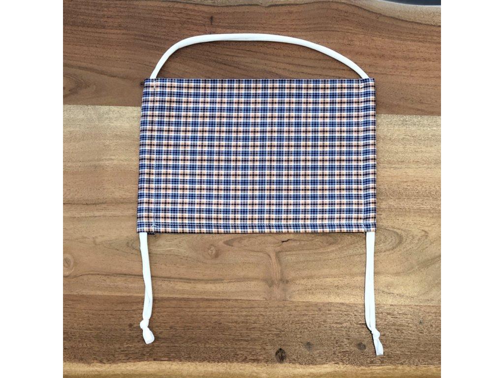 Bavlněná dvouvrstvá rouška s kapsou na filtr NEGRESCO