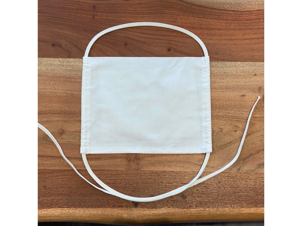 Antibakteriální rouška hladká s kapsou na filtr