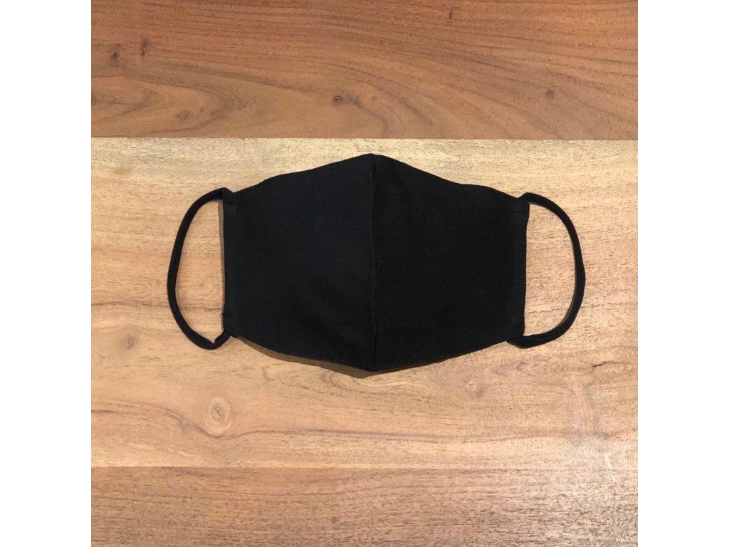 Sportovní tvarovaná rouška ČERNÁ