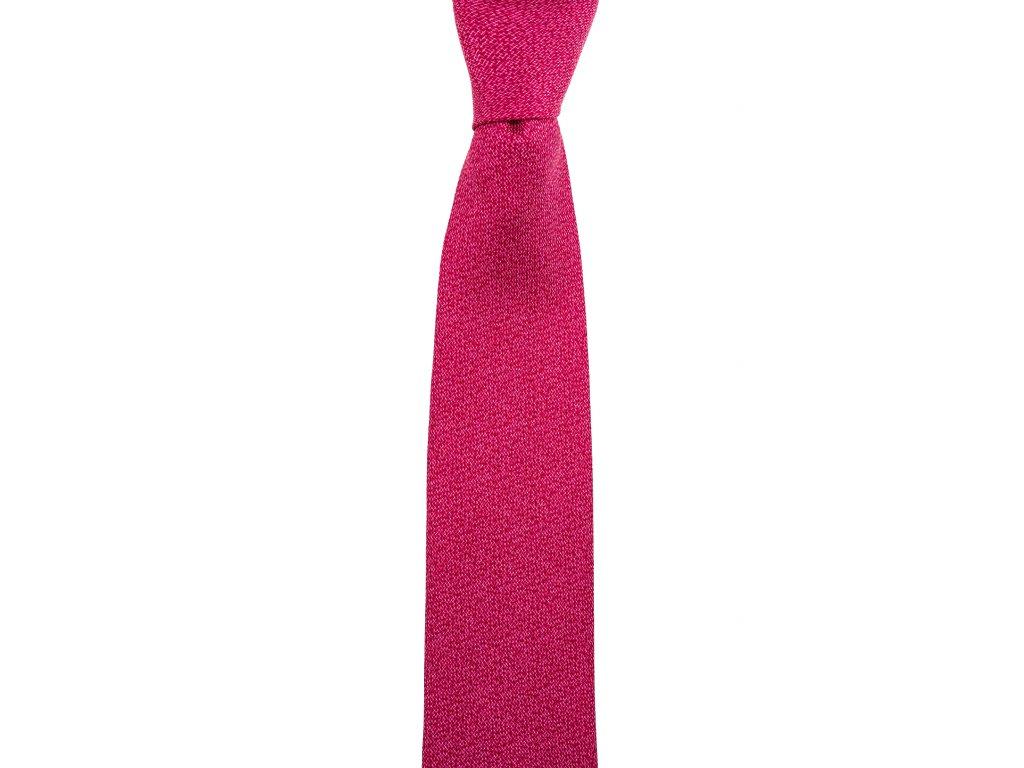 Červená twin kravata se strukturou