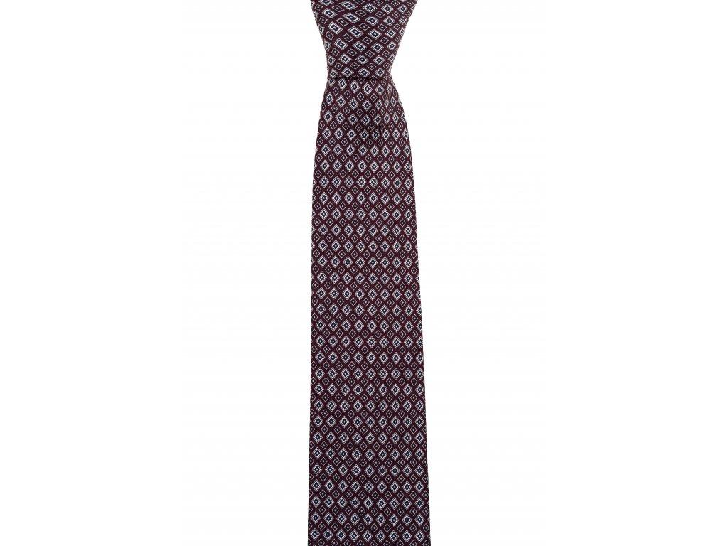 Vínová twin kravata se vzorem