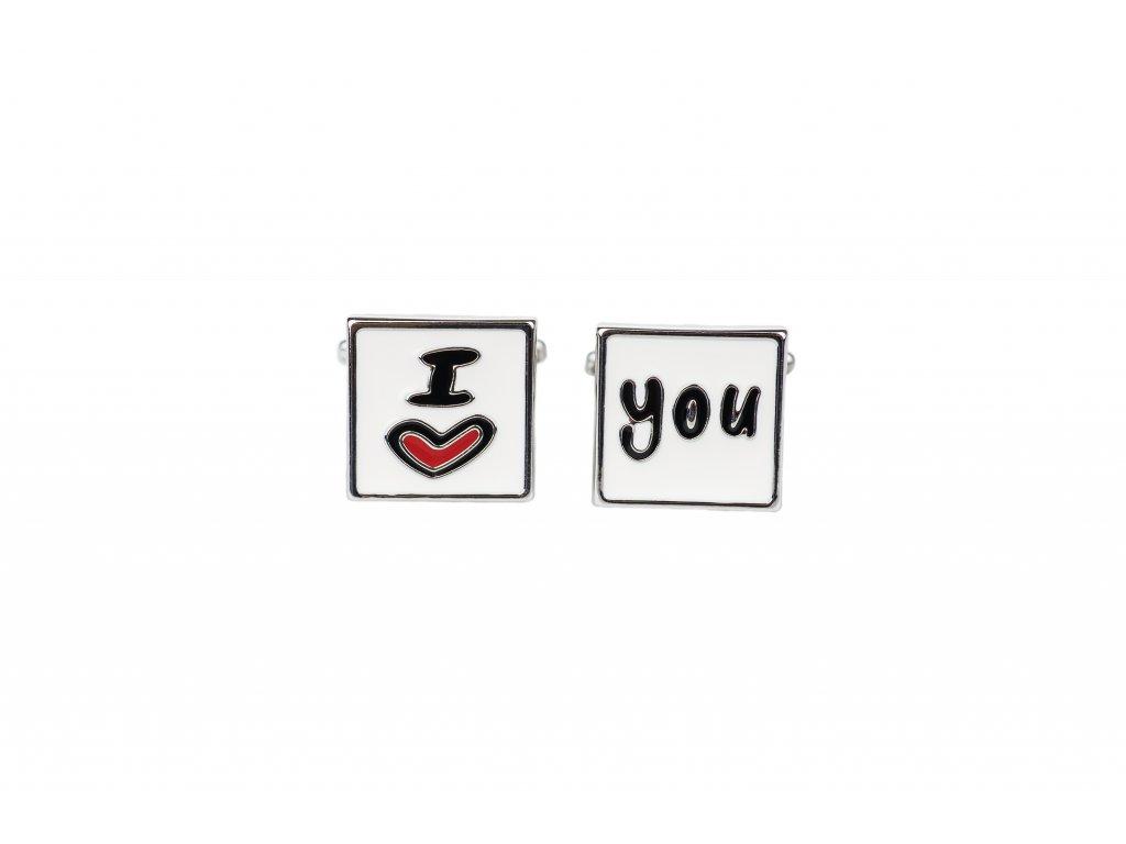 Manžetové knoflíčky I love you