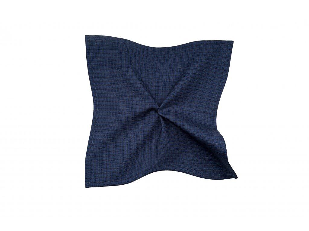 Tmavě modrý kapesníček s kostkou