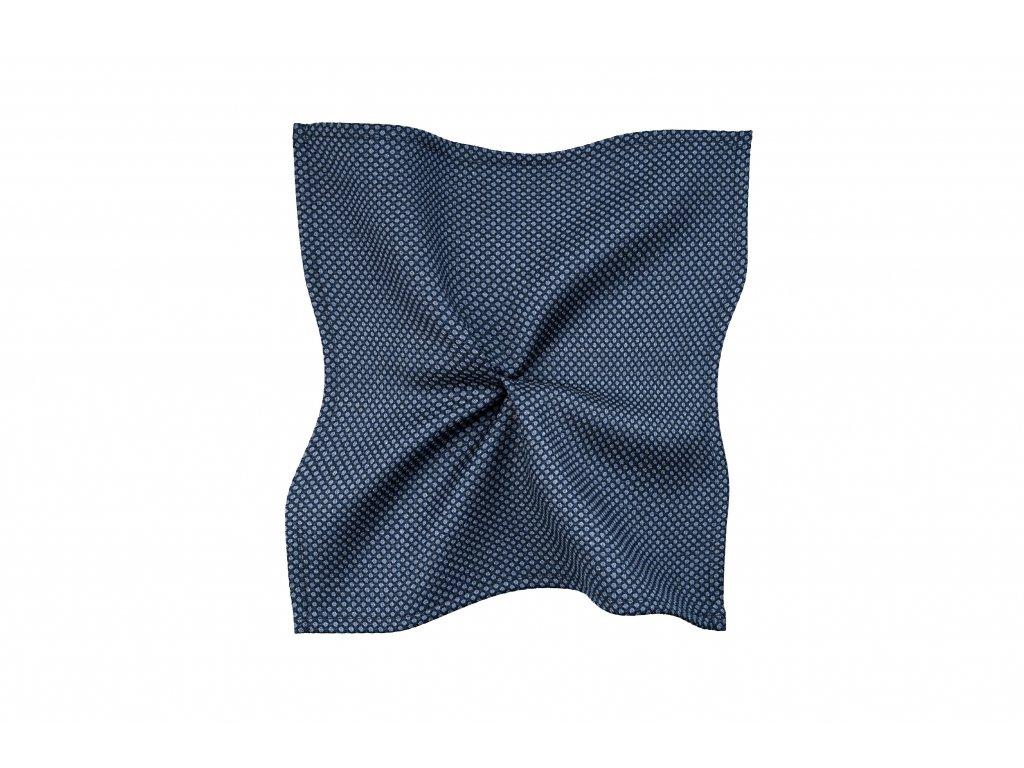 Modrý kapesníček s puntíkem