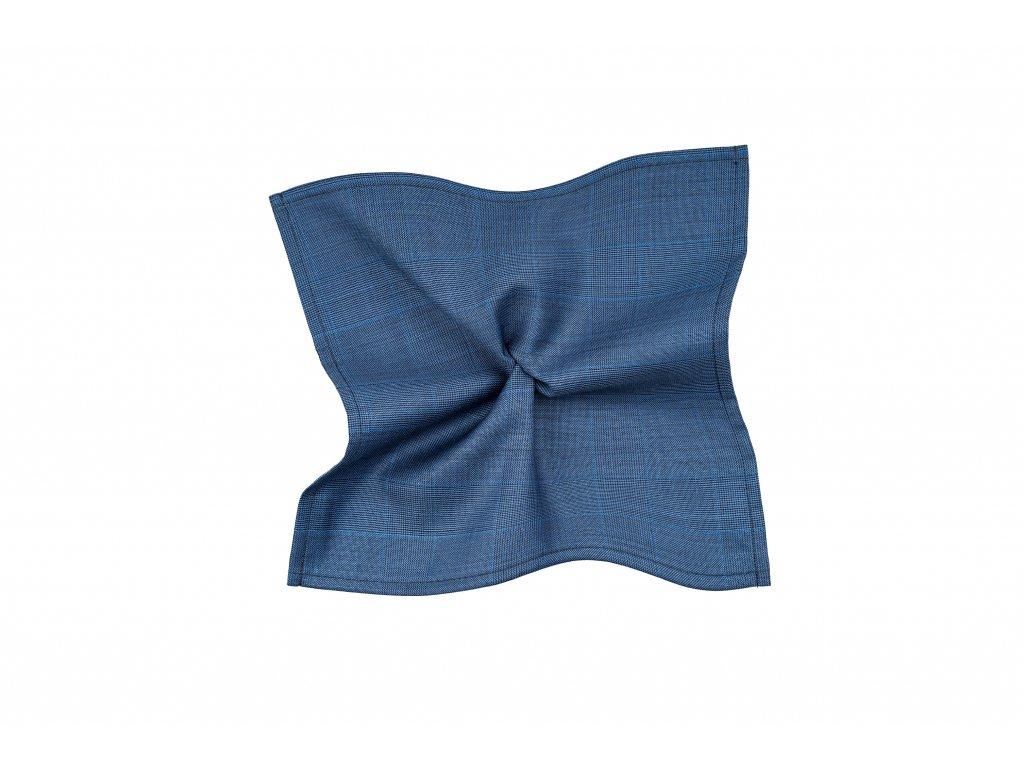 Modrý kapesníček s kárem