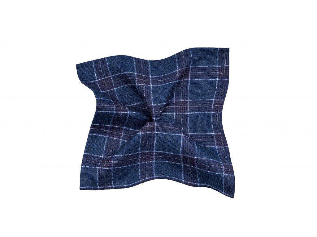 Modrý kapesníček s fialovým kárem