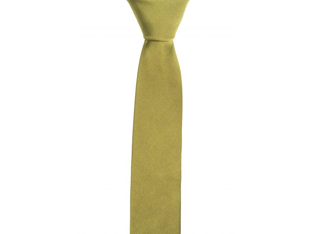 Khaki kravata s šikmou linií
